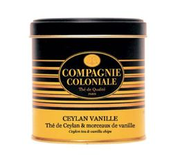 Boite Compagnie Coloniale Thé noir Ceylan Vanille - 150 gr