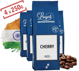 Cafés Lugat - Cherry robusta coffee beans from India - 1kg