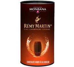 Boîte de 25 chocolats noirs à la liqueur de Cognac Rémy Martin - Monbana