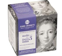 Chocolat en poudre noir aux 5 épices - 6x40g - Jeanne-Antoinette