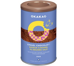 Chocolat en poudre Saveur Caramel Beurre Salé - 250g - Okakao