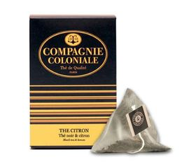 Thé Citron flavoured black tea - 25 pyramid bags - Compagnie Coloniale