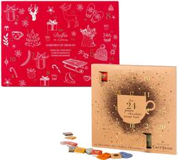 Pack 2 Calendriers de l'Avent Chocolat - Edition 2016 - Dolfin/Café Tasse