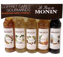 Coffret cafés gourmands - 5 mignonnettes de sirop - Monin