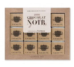 Coffret chocolats Coffee Set Extra Noir 77% - Café-Tasse