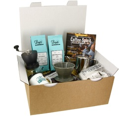 Coffret Cadeau Café Dripper + Moulin - Slow Coffee
