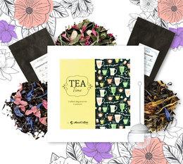 Coffret Tea Time : Bouquet d'arômes + infuseur OFFERT - 6 x 50 g de thé en vrac