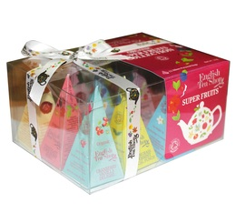 Coffret thés et infusions bio - Super Fruits - 12 sachets de 6 Parfums - English Tea Shop