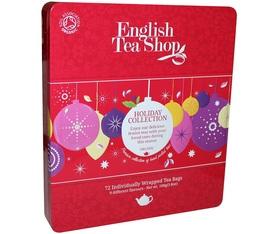 Coffret « Vacances d'Hiver» en métal de thés et infusions - 72 sachets - 9 parfums -English Tea Shop