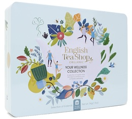 Coffret Wellness Collection bio 36 sachets boîte métallique - English Tea Shop