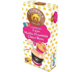 Columbus Café & Co - Raspberry & white chocolate muffin flavoured espresso Nespresso-compatible pods x 10