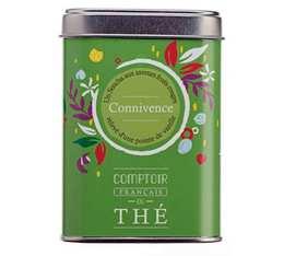 Thé vert en vrac boîte métal 'Connivence' - Comptoir Français du Thé - 100g