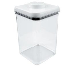 Boite à café avec vide d'air POP Oxo - 1kg/3.8L en plastique transparent