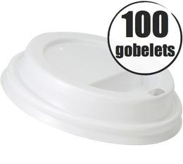100 couvercles pour gobelets cartonnés 27cl Lavazza