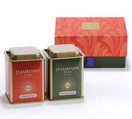 Dammann Happy Holidays Gift Set - 2 x 40g loose leaf tea tin