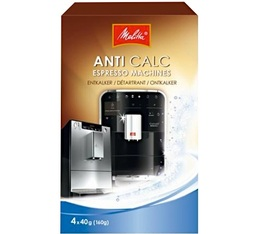 Détartrant Melitta Anti Calc (4 x 40g) pour machines à café automatique