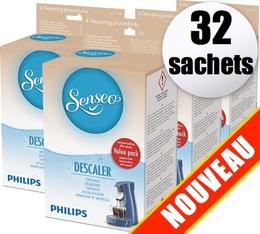 Détartrant Senseo HD7012 (Produit officiel) - 32 sachets de détartrage