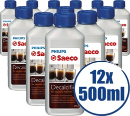 Lot de 12 Détartrants Saeco CA6700/00 Grand Format pour machine saeco - 500 ml