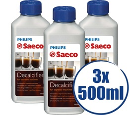 Lot de 3 Détartrants Saeco CA6700/00 Grand Format pour machine saeco - 500 ml