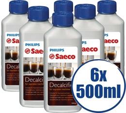 Lot de 6 Détartrants Saeco CA6700/00 Grand Format pour machine saeco - 500 ml