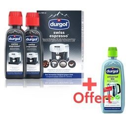 2 Détartrants universels pour machine expresso (2x125ml) + 1 détartrant Durgol Bio universel 125ml offert