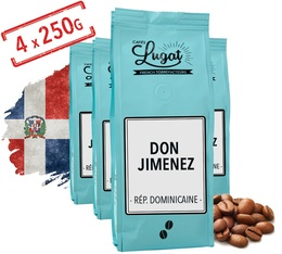 Café en grains : République Dominicaine - Don Jimenez - 1kg - Cafés Lugat