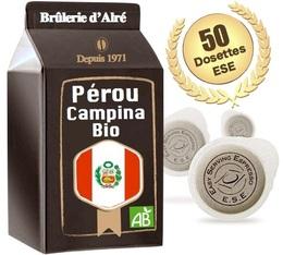 Dosettes ESE Pérou Campina Bio x 50 - Brûlerie d'Alré