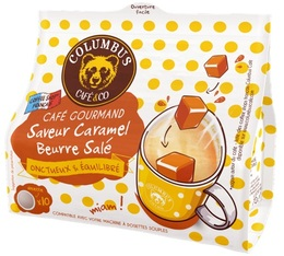 Columbus Café & co Salted Caramel Butter flavoured coffee pods for Senseo x 10