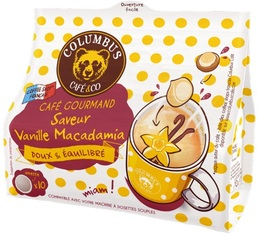 Columbus Café & co - Vanilla Macadamia flavoured coffee pods for Senseo x 10