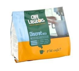 Café dosettes souples Discret Deca x18 - Café Liegeois