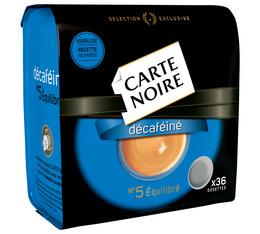 Dosettes souples n°5 Décaféiné x36 - Carte Noire