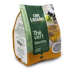 Thé dosettes souples Thé Vert Menthe  x20 - Café Liegeois