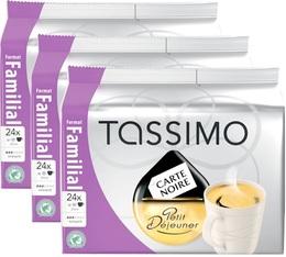 Dosette Tassimo Carte Noire Petit Déjeuner - 24 T-Discs - Lot de 3 (soit 72 T-Discs)