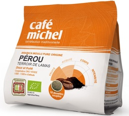 Café Michel 'Pérou' organic coffee pods for Senseo x 18