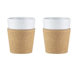 Bodum Bistro porcelain and cork cups (2x300ml)