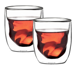 Qdo Elements (Earth), Double Wall Glass, Set of 2 - 7.5cl