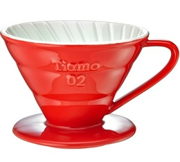 Dripper Tiamo V02 conique rouge 4 tasses