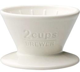 Dripper Kinto SCS-02-BR conique blanc 2 tasses
