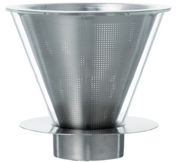 Dripper Kinto Carat conique verre / inox 6 tasses