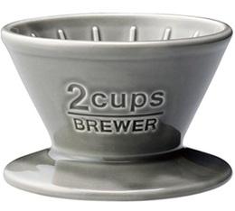 Dripper Kinto SCS-02-BR conique gris 2 tasses