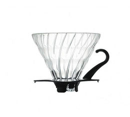 HARIO V60 glass dripper VDG-03B for 1-6 cups