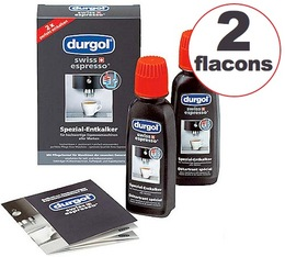 Durgol Swiss Espresso Coffee Machine Descaler 2 x 125ml