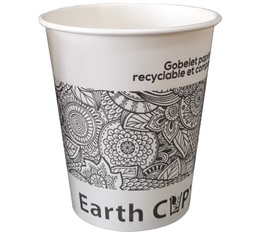 Lot de 90 gobelets en carton Earth Cup Etnyk 18 cl