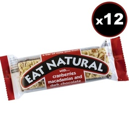 4 Barres gourmandes canneberges, noix de macadamia et chocolat - Eat Natural