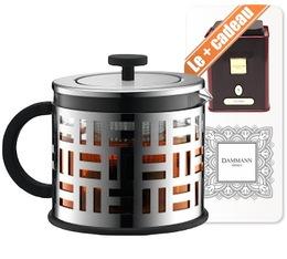 Théière à Piston Eileen Tea Press 1.5l argent - Bodum + boite de thé collection Dammann offerte