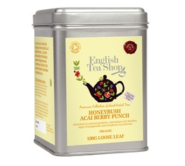 Infusion Honeybush Baie d'Acaï bio - boîte métal de 100g - English Tea Shop