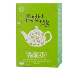 Organic Green Tea Tropical - 20 individually-wrapped sachets - English Tea Shop