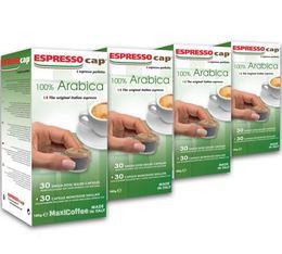 120 x Capsules  100% Arabica pour Cubo Espresso Cap
