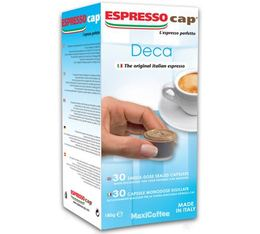 30 x Decaffeinated capsules for Cubo machines by Espresso Cap.