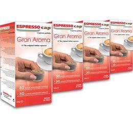120 x Capsules Gran Aroma pour Cubo Espresso Cap